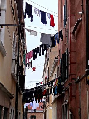 Photograph - Venetian Clotheslines by Keith Stokes