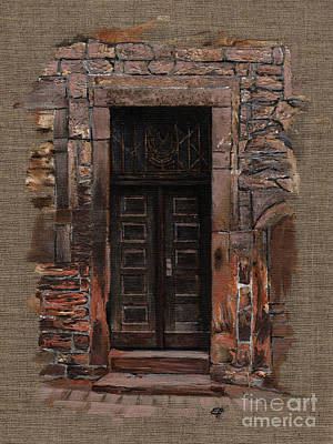 Art Print featuring the painting Venetian Door 02 Elena Yakubovich by Elena Yakubovich
