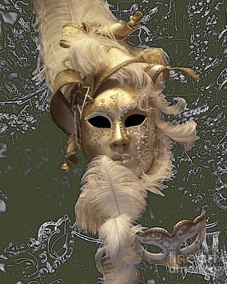 Carneval Photograph - Venetian Face Mask C by Heiko Koehrer-Wagner