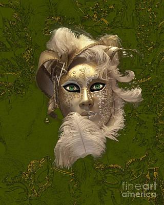 Carneval Photograph - Venetian Face Mask E by Heiko Koehrer-Wagner