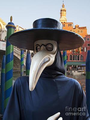 Plague Doctor Photograph - Venetian Face Mask G by Heiko Koehrer-Wagner