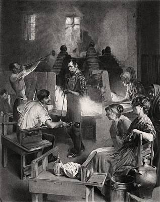 Venetian Glass Photograph - Venetian Glass Blowers, 19th Century by Science Photo Library