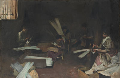 Venetian Glass Painting - Venetian Glass Workers by John Singer Sargent