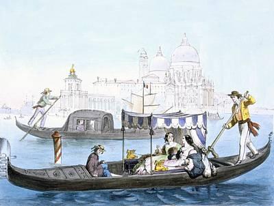 Venice Drawing - Venetian Gondola, From Vedute Dei by Giovanni Battista Cecchini