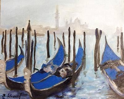 Painting - Venetian Gondolas by Barbara Anna Knauf