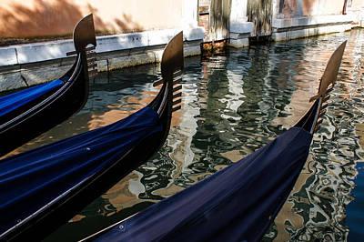Venetian Gondolas Art Print by Georgia Mizuleva
