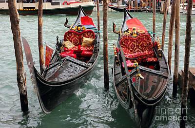 Venetian Gondolas Art Print by Kiril Stanchev