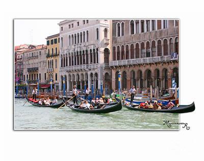 Photograph - Venetian Gondoliers by Mariarosa Rockefeller