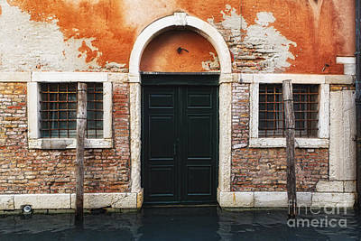 Flooding Photograph - Venetian House Entrance by George Oze