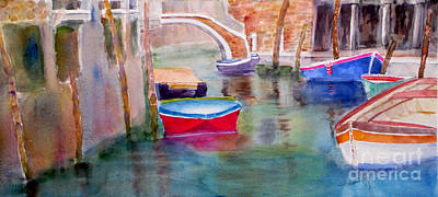Mohamed Painting - Venetian Hues by Mohamed Hirji