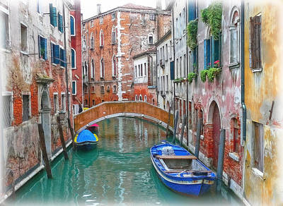 Print featuring the photograph Venetian Idyll by Hanny Heim