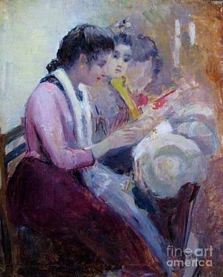 Painting - Venetian Lace Makers by Pg Reproductions