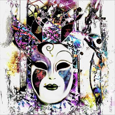 Buying Online Photograph - Venetian Mask by Barbara Chichester