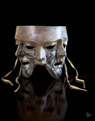 Photograph - Venetian Mask by Endre Balogh