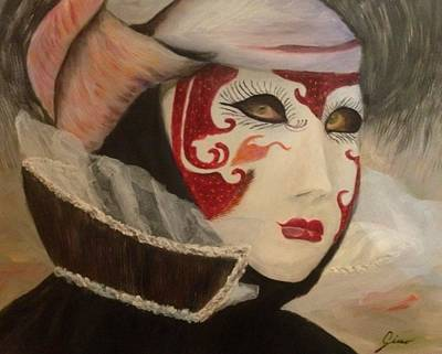 Dio Painting - Venetian Mask by Gino Didio