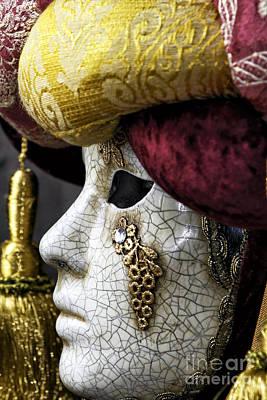 Venetian Mask Art Print by John Rizzuto
