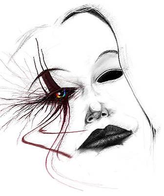 Jester Digital Art - Venetian Mask by Kd Neeley
