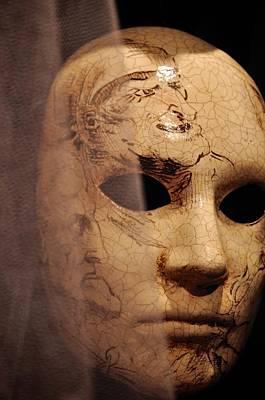 Paper Mache Photograph - Venetian Mask by Matt MacMillan