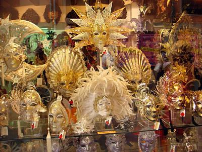 Photograph - Venetian Masks 2 by Karen Zuk Rosenblatt