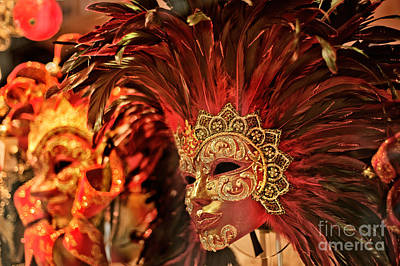 Photograph - Venetian Masks by Jean Gill