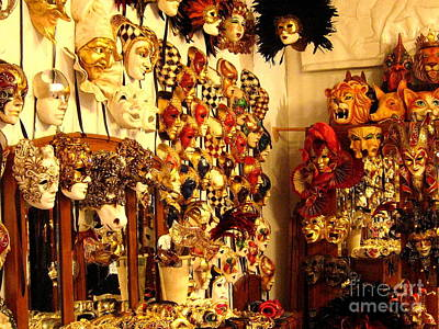 Photograph - Venetian Masks by Theresa Ramos-DuVon