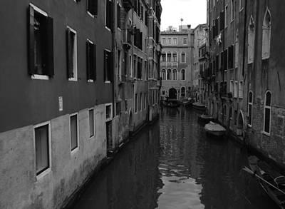 Venetian Monochrome Bw Art Print by Walter Fahmy
