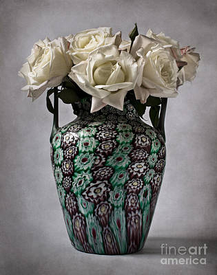 Photograph - Venetian Murrine Vase by Barbara Corvino