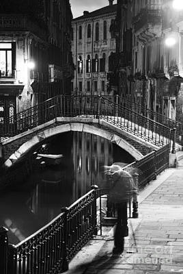 Balck And White Photograph - Venetian Night by Yuri Santin