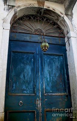 Venetian Old Blue Door Art Print