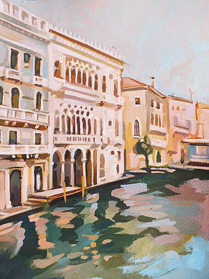 Venetian Palaces Print by Filip Mihail