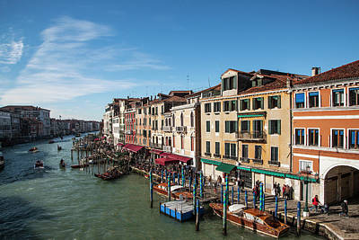 Photograph - Venetian Palaces On The Canal Grande by Buena Vista Images