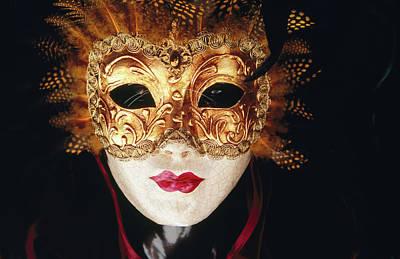 Photograph - Venetian Papier Mache Mask by Mark Daffey