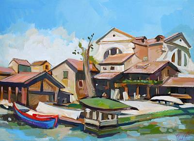 Italian Landscape Mixed Media - Squero Di San Trovaso by Filip Mihail