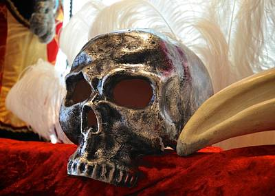 Photograph - Venetian Skull Mask by Matt MacMillan