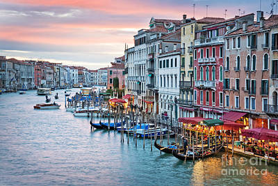 Venetian Sunset Art Print by Delphimages Photo Creations