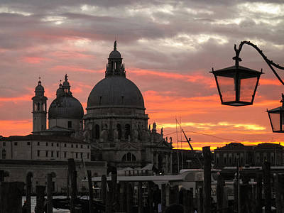 Art Print featuring the photograph Venetian Sunset by Joe Winkler