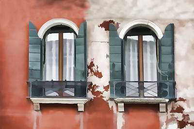 Photograph - Venetian Window by Indiana Zuckerman