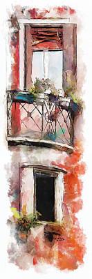 Man Cave - Venetian Windows 4 by Greg Collins