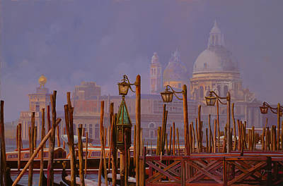 Royalty-Free and Rights-Managed Images - Venezia E La Nebbia by Guido Borelli