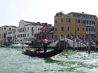Photograph - Venezia Gondola Canale by Irina Sztukowski
