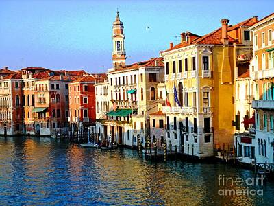 Photograph - Venezia Grand Canal by Phillip Allen