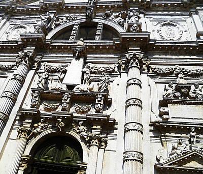 Venezia Italia Chiesa Di San Moise Art Print by Irina Sztukowski