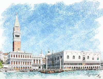 Digital Art - Venezia by Mariarosa Rockefeller