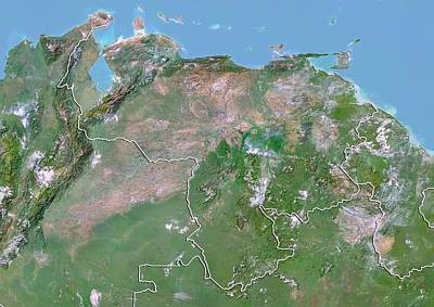 Venezuela Art Print by Planetobserver/science Photo Library