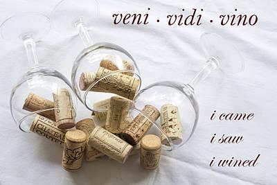 Veni Vidi Vino Art Print by Georgia Fowler