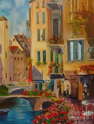 Venic Canal 1 Art Print by Jenny Lee