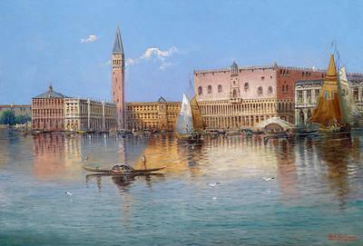 Venice. Acqua Alta In Piazza San Marco Print by Karl Kaufmann