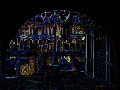 Photograph - Venice Arch In Neon by Kelly Borsheim