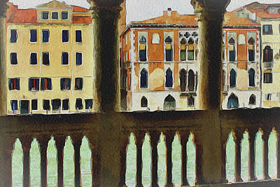 Venice Architecture 4 Art Print by Yury Malkov