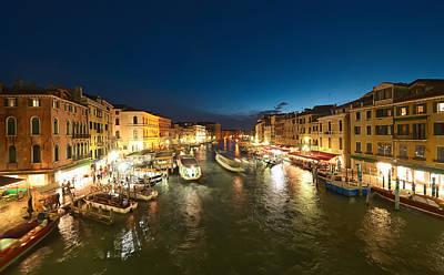 Venice At Night Art Print by Ioan Panaite